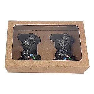 Caixa Kraft para 2 Controle Joystick Mini PlayStation Chocolate (20x13x5 cm) 10unid
