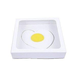 Caixa Visor Ovo Frito Coração Branca (13x13x2.5 cm) 10unid
