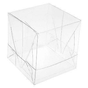 PMB-6 Caixa de Acetato 6cm (6x6x6 cm) Caixinha de Plástico Transparente 10unid