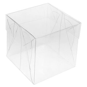 PMB-5 Caixa de Plástico para Bombom (4x4x4 cm) Caixa Quadrada Transparente 4cm Caixa Plástica 10unid