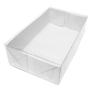 TRP-1 (12x7x3 cm) Caixa Plástico Acetato e Papel 10unid