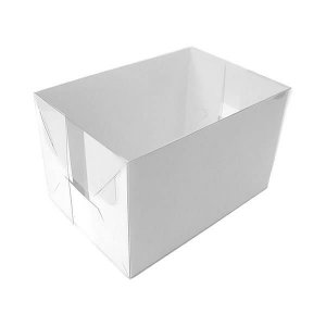 TRP-91 (15x10x8 cm) Embalagens de Plástico Acetato e Papel 10unid