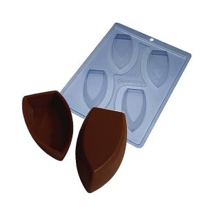 Forma para Chocolate com Silicone Barca de Chocolate P 18g Ref. 9542 BWB 1unid
