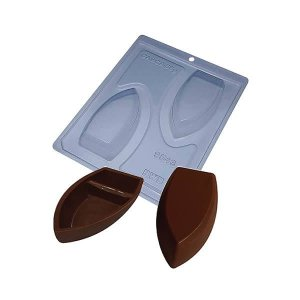 Forma para Chocolate com Silicone Barca de Chocolate M 59g Ref. 9543 BWB 1unid