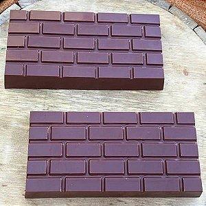 Forma para Chocolate com Silicone Tablete Tijolinho Tijolo Aparente Avista 260g Ref. 9890 BWB 1unid