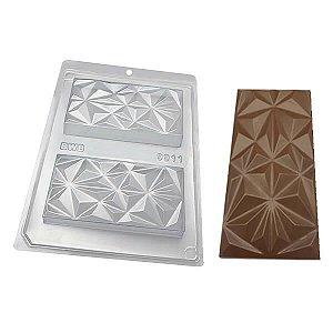 Forma para Chocolate com Silicone Tablete Triângulo 250g Ref. 9911 BWB 1unid