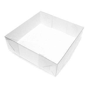 TRP-101 (16x16x4.5 cm) Caixinha de Plástico Acetato e Papel 10unid
