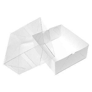 TRP-90 (12 X 11 X 6 cm) Caixinha de Plástico Acetato e Papel 10unid