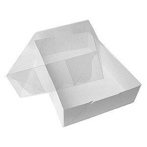 TRP-121 (17x11x2 cm) Caixa Plástico Acetato e Papel 10unid