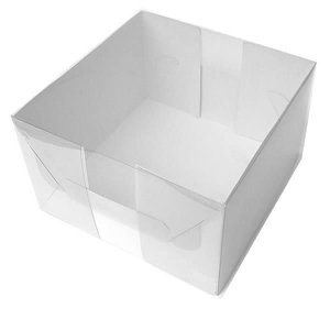 TRP-34 (12x12x9 cm) Caixinha de Plástico Acetato e Papel 10unid