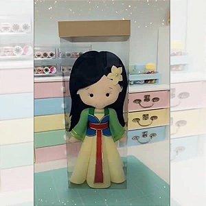 KRP-320 Kraft Caixa para Boneca de Feltro, Tecido, Croche (15x15x40 cm) Embalagens Acetato e Papel 5unid