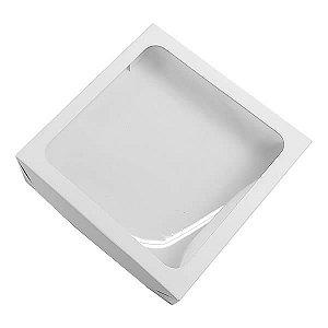 Caixa 326 Visor Branca (TRP-326) (13x13x2.5 cm) Caixa para Embalagem 10unid