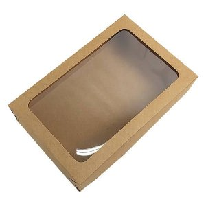 Caixa 327 Visor Kraft (20x13x5 cm) Caixa para Embalagem Acetato e Papel 10unid