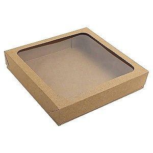 Caixa 326 Visor Kraft (KRP-326) (13x13x2.5 cm) Caixa para Embalagem 10unid