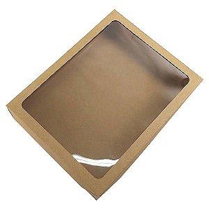 Caixa 325 Visor Kraft (26x20x5 cm) Caixa para Embalagem Acetato e Papel 10unid