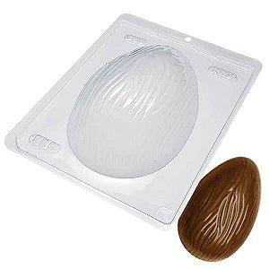 Forma para Chocolate Ovo de Páscoa Riscado 500g Forma Simples Ref. 203 BWB 5unids