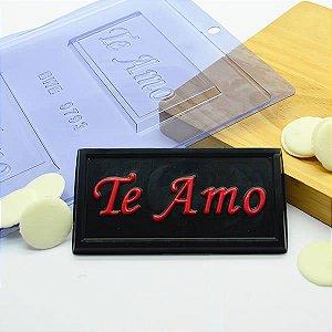 Forma para Chocolate Tablete Te Amo 40g Forma Simples Ref. 9793 BWB 5unids