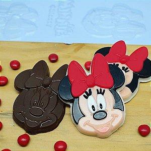 Forma para Chocolate Bombom Rosto Minnie 20g Ref. 12044 BWB Licenciada Disney 10unid