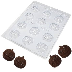 Forma para Chocolate Abóbora Halloween 8g Forma Simples Ref. 9431 BWB 5unids
