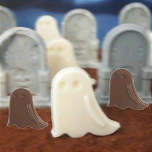 Forma para Chocolate Fantasminha Halloween 5g Forma Simples Ref. 9741 BWB 5unids