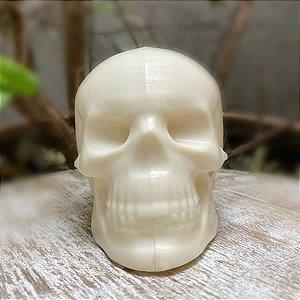 Forma para Chocolate com Silicone Crânio Cabeça Caveira Esqueleto Halloween Casquinha40g Ref. 9997 BWB 1unid
