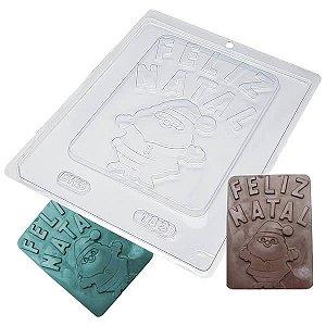 Forma para Chocolate Placa Feliz Natal 170g Forma Simples Ref. 183 BWB 5unids