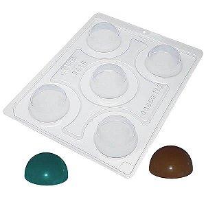 Forma para Chocolate com Silicone Esfera de 50mm 5cm 15g Ref. 9419 BWB 1unid