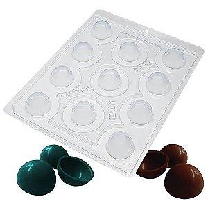 Forma para Chocolate com Silicone Esfera de 30mm 3cm 5g Ref. 9418 BWB 1unid
