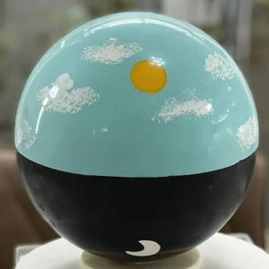 Forma para Chocolate Semiprofissional com Silicone Esfera de 180mm Ref. 3652 BWB 1unid