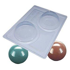 Forma para Chocolate com Silicone Esfera de 90mm Ref. 9725 BWB 1unid