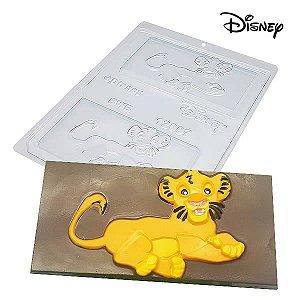 Forma para Chocolate Barra Simba Filhote 75g Ref. 12007 BWB Licenciada Disney 10unid