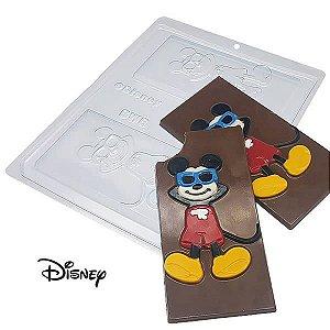 Forma para Chocolate Barra Mickey Bronzeado 75g Ref. 12012 BWB Licenciada Disney 10unid