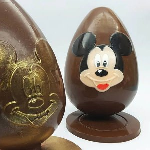 Forma para Chocolate com Silicone Ovo Rosto Mickey 350g Ref. 12001 BWB Licenciada Disney 1unid