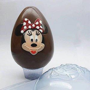 Forma para Chocolate com Silicone Ovo Rosto Minnie 350g Ref. 12003 BWB Licenciada Disney 1unid