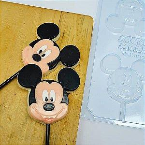 Forma para Chocolate Pirulito Rosto Mickey 28g Ref. 12052 BWB Licenciada Disney 10unid