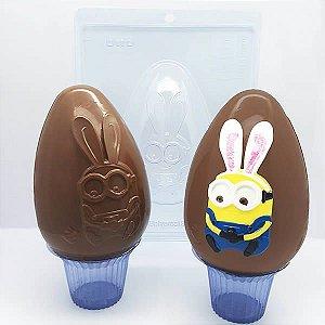 Forma para Chocolate com Silicone Ovo Minion Bob Orelhas de Coelho 350g Ref. 11002 BWB Licenciada Universal 1unid