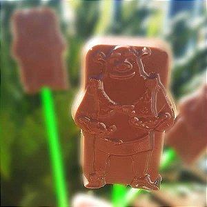 Forma para Chocolate Pirulito Shrek 20g Ref. 11016 BWB Licenciada Universal 10unid