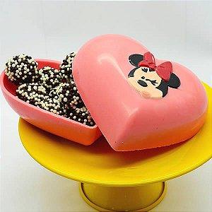 Forma para Chocolate com Silicone Coração Minnie 500g Ref. 12029 BWB Licenciada Disney 1unid