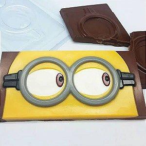 Forma para Chocolate Barra Olhar de Minion 65g Ref. 11055 BWB Licenciada Universal 10unid