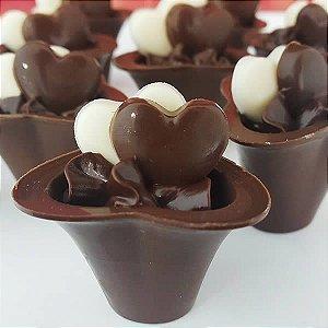 Forma para Chocolate com Silicone Copo Mousse 5 9g Ref. 9453 BWB 1unid