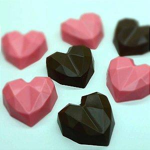 Forma para Chocolate com Silicone Trufa Coração Lapidado 65g Ref. 9836 BWB 1unid