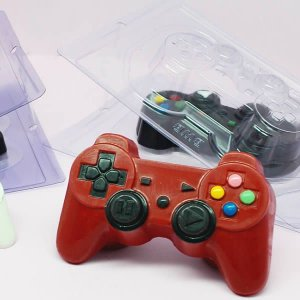 Forma para Chocolate com Silicone Joystick PlayStation Grande Controle Video Game Ref. 9814 BWB 1unid