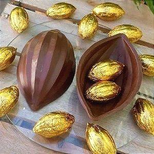 Forma para Chocolate com Silicone Ovo Cacau 255g Ref. 862 BWB 1unid