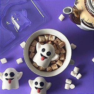 Forma para Chocolate com Silicone Fantasminha Camarada Halloween 40g Ref. 10214 BWB 1unid