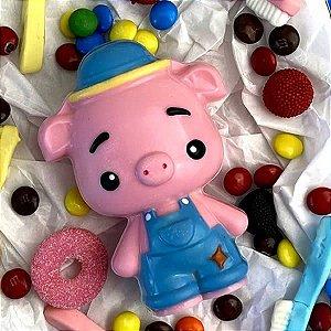Forma para Chocolate com Silicone Pig Porco Porquinho 185g Ref. 10203 BWB 1unid