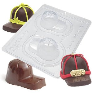 Forma para Chocolate com Silicone Trufa Boné Ref. 1419 BWB 1unid