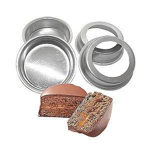 Forma de Aluminio Pão de Mel Redondo Fundo Falso nº0 (3.8x1.6 cm) Ref. 8999 BWB 10unid