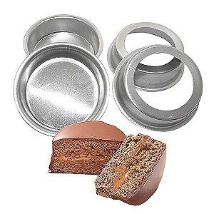 Forma de Aluminio Pão de Mel Redondo Fundo Falso nº1 (5.2x2 cm) Ref. 9000 BWB 10unid