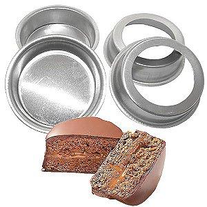Forma de Aluminio Pão de Mel Redondo Fundo Falso nº2 (6.5x1.9 cm) Ref. 9001 BWB 10unid