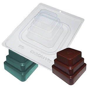 Forma para Chocolate com Silicone Bolo Quadrado Gigante 116g Ref. 100 BWB 1unid